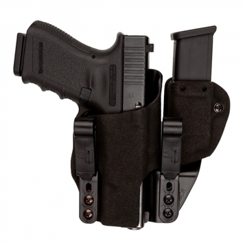 HOLSTER INCOG ECLIPSE GLOCK 17 ET PORTE CHARGEUR DROITIER BLACK FUZZ FULL GUARD GCODE